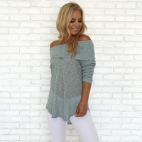 Pastel Knit Sweater Top In Blue