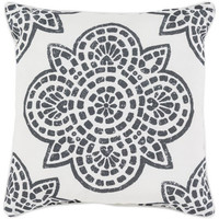 Arabesque Black and White Outdoor Pillow
