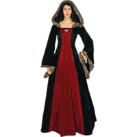 Fur Trimmed Medieval Dress with Hood - MCI-298 from Dark Knight Armoury