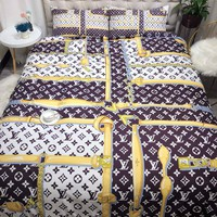 LOUIS VUITTON Blanket Quilt coverlet Pillow shams 3 PCS Bedding SET