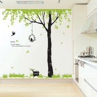 Reusable Removable Decoration Wall Sticker Decal- Tree