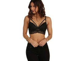 Black Lace Seduction Push-Up Bralette