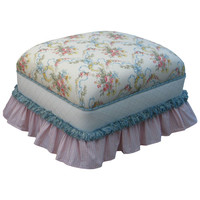 Angel Song 221021101 Blossoms and Bows Adult Club Glider Rocker Ottoman