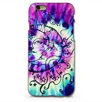 Sun And Moon Tie Dye iphone 6 6s Plastic Phone Case Phone Cover Phone Back Case _ SUPERTRAMPshop (VAS558)