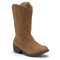 Girls BDW-14 Tall Stitched Western Inspired Cowboy Boots