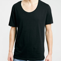 BLACK SCOOP NECK T-SHIRT - New This Week - New In - TOPMAN USA