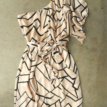 Geometric Angles Dress [3082] - $38.00 : Vintage Inspired Clothing & Affordable Fall Frocks, deloom   Modern. Vintage. Crafted.