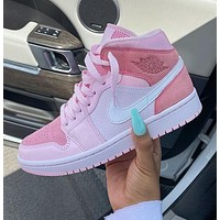 NIKE Air Jordan 1 Mid Digital Pink Sneakers