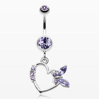 zzz-Butterfly Romance Belly Button Ring