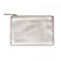 Russell + Hazel Silver Leather Stash Sack