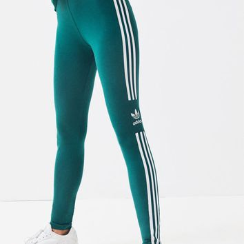 adidas Green Trefoil Leggings | PacSun