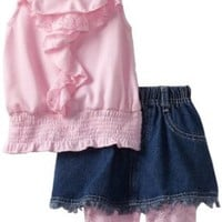 Little Lass Baby Girls' 3 Piece Skirt Set with Printed Legging, Pink, 24 Months