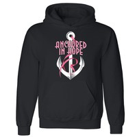 "Zexpa Apparelâ""¢ Anchored in Hope Unisex Hoodie Breast Cancer Awareness Month Hooded Sweatshirt"