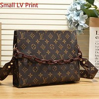 LV Louis Vuitton Canvas Presbyopia Zip Clutch Shoulder Bag
