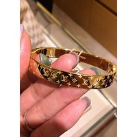 Louis Vuitton LV new fashion and popular high-end couple stainless steel bracelet