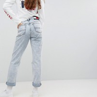 Tommy Jeans 90s Capsule Bleached Out Mom Jean at asos.com
