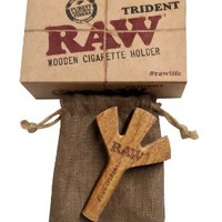 RAW Trident Wooden Cigarette Holder (Limited Edition)