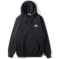 The North Face Tide brand men's and women's loose wild hooded hoodie black