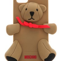Moschino Bear 3D Silicone Back Cover Case For Apple iPhone 5G (Brown)