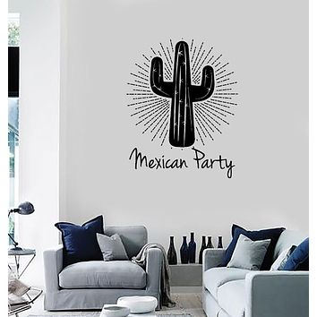 Wall Sticker Vinyl Decal Quote Words Mexican Party Cactus Decor Unique Gift (n1310)
