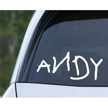 Andy - Toy Story Shoe Die Cut Vinyl Decal Sticker