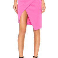 BLQ BASIQ Scuba Skirt in Pink