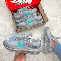 OFF-White x Nike Air Max 97 Menta Sneakers Shoes