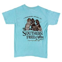 Youth Best Friends Pocket Tee in Chalky Mint by Southern Fried Cotton