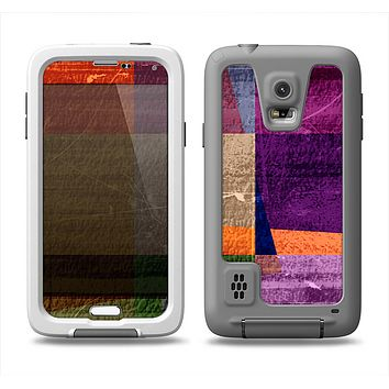 The Vintage Highlighted Panels of Color Samsung Galaxy S5 LifeProof Fre Case Skin Set