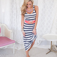Country Girl Racerback Maxi Dress Charcoal