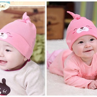 Fashion New Lovely Cartoon Kids Baby Care Infant Toddlers Cotton Comfort Sleep Cap Headwear Cute Girls Boys Hat