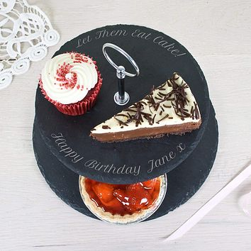Birthday Present Ideas Two Tiered Slate Cake Stand