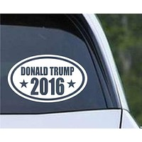 Donald Trump 2016 (ver 2) Euro Oval Die Cut Vinyl Decal Sticker