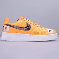 """NIKE Air Force 1 """"Just Do It"""" fashionable man ornament low help shoes"""