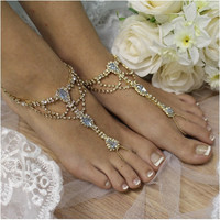 SOMETHING BLUE barefoot sandals - gold