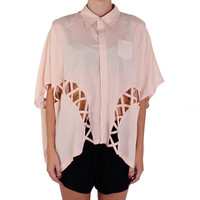 Cameo Little Star Cape Shirt - nude | Shirts by Cameo at Thanks | Shop Cameo Online