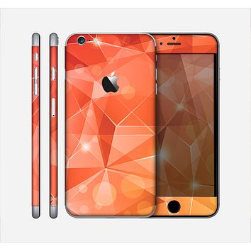 The Vector Shiny Coral Crystal Pattern Skin for the Apple iPhone 6 Plus