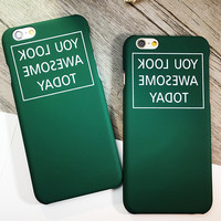 Retro Army Green Case Cover for iphone 5s 6 6s Plus Gift 181