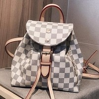 LV Louis Vuitton Retro Woman Men Leather Mini Travel Bookbag Shoulder Bag Backpack