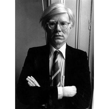 Andy Warhol Bw Art poster Metal Sign Wall Art 8in x 12in