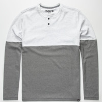 Hurley Dri-Fit Schoolyard Mens Henley White  In Sizes