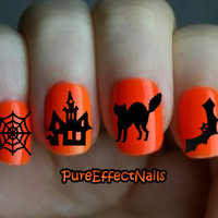 Halloween Nail Decal Pack by PureEffectNails on Etsy