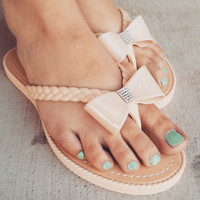 BRAIDED BOW SANDALS
