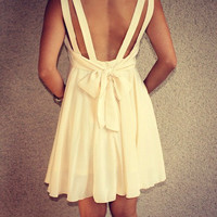 Double Strap Dress with Back Bow