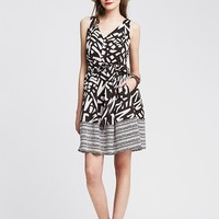 Banana Republic Womens Heritage Mixed Print Dress