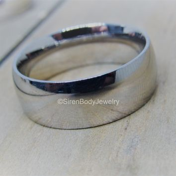 Titanium wedding band 4mm 8mm hypoallergenic engagement ring pick your anodized color