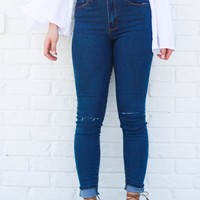 Halli Slit Denim Skinnies