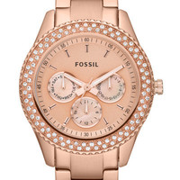 Fossil Stella Multifunction Stainless Steel Watch - Rose