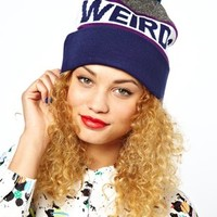 Lazy Oaf Weird And Needy Bobble Hat at asos.com