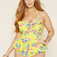 Plus Size Floral One-Piece | Forever 21 PLUS - 2000169270